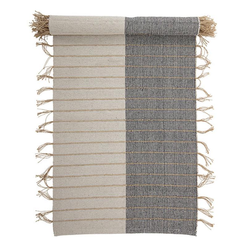 Bloomingville-collectie Aciano Rug, Nature, Cotton