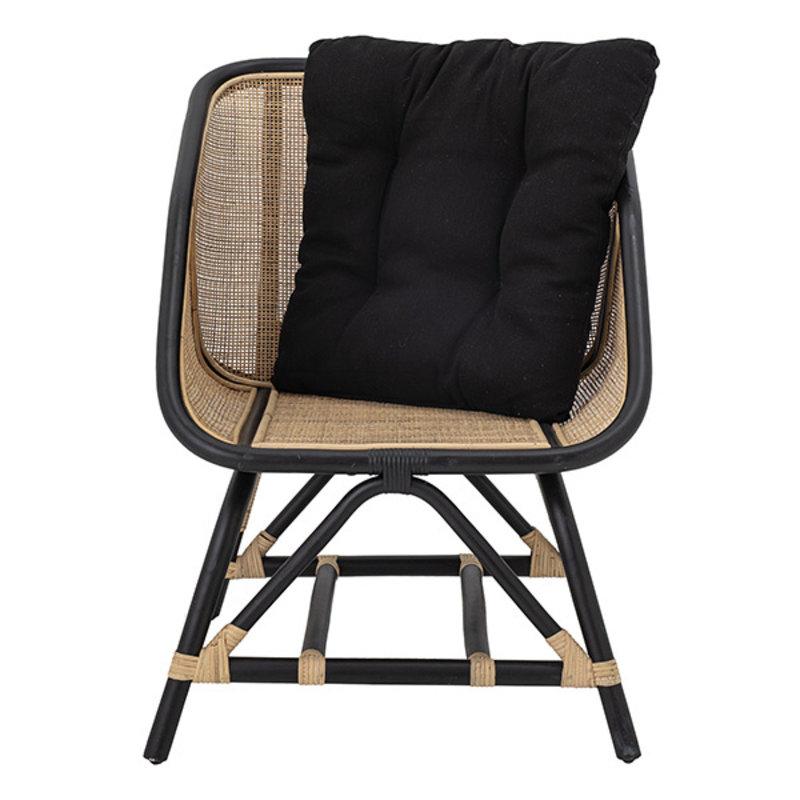 Bloomingville-collectie Loue Lounge Chair, Black, Rattan
