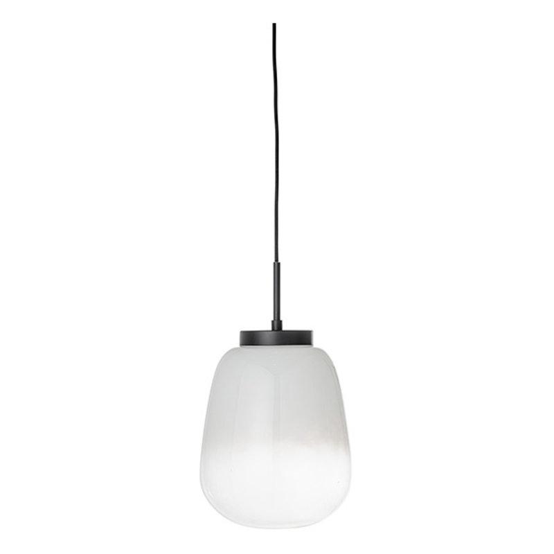 Bloomingville-collectie Glazen hanglamp Ece wit