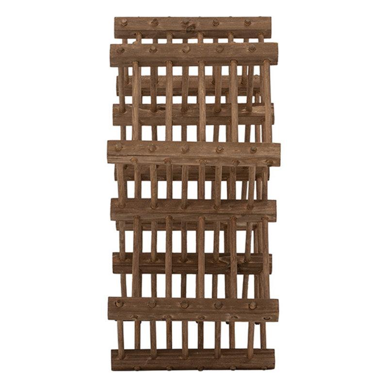 Bloomingville-collectie Lucas Wine Rack, Brown, Bamboo