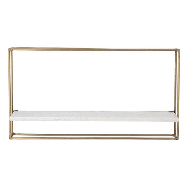 Bloomingville-collectie Metalen rek Cooper met marmeren plank