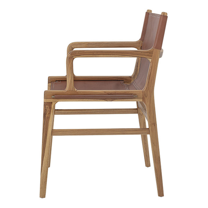 Bloomingville-collectie Ollie Lounge Chair, Brown, Leather