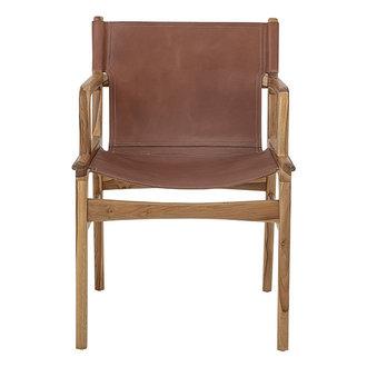 Bloomingville Leren lounge stoel Ollie bruin