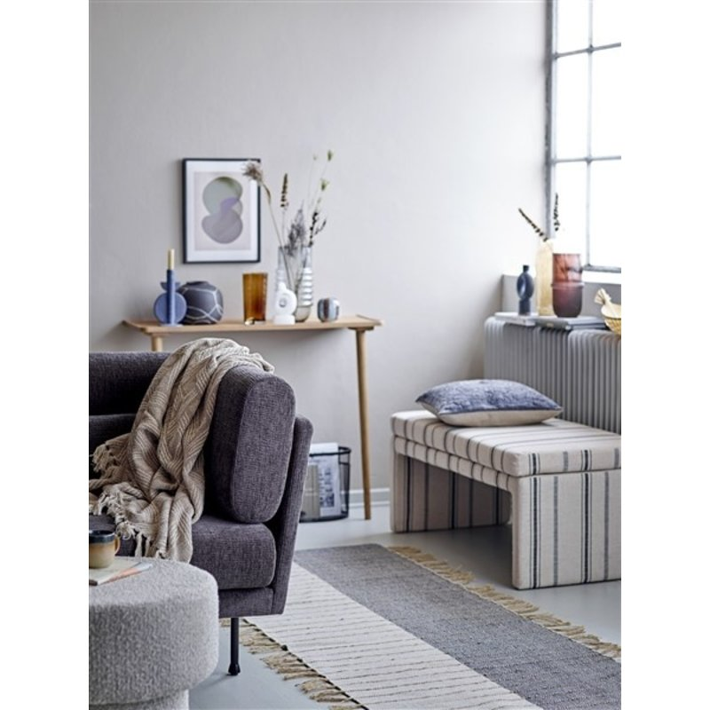 Bloomingville-collectie Raymon Pouf, Brown, Polyester