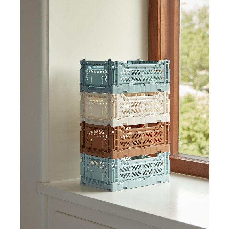 HAY-collectie Krat Colour Crate Arcticblauw S