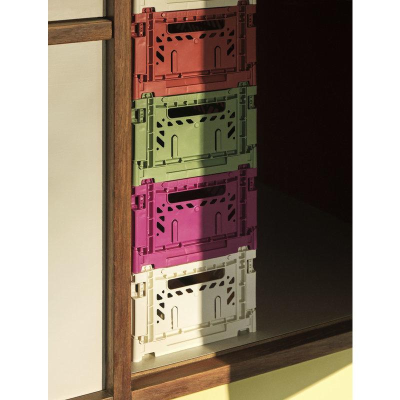 HAY-collectie Krat Colour Crate Stofgroen S