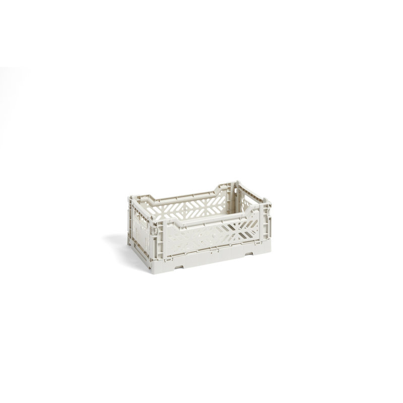 HAY-collectie Krat Colour Crate Lichtgrijs S