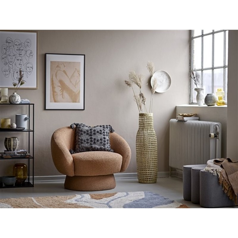 Bloomingville-collectie Lounge stoel Ted bruin