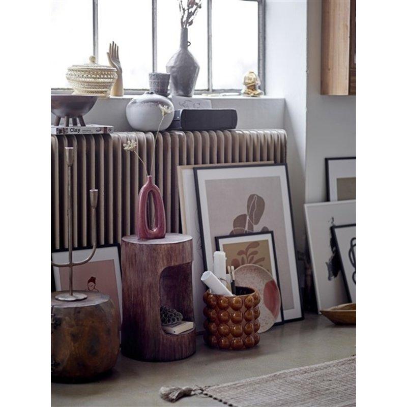 Bloomingville-collectie Eda Stool, Brown, Albasiawood