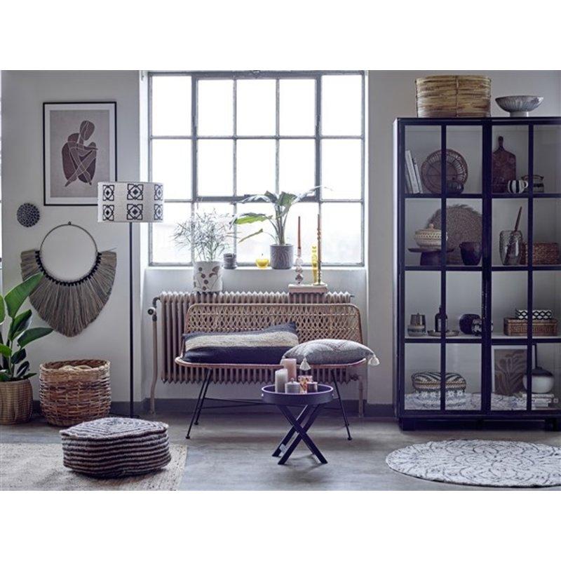 Bloomingville-collectie Freya Sidetable, Black, Rubberwood