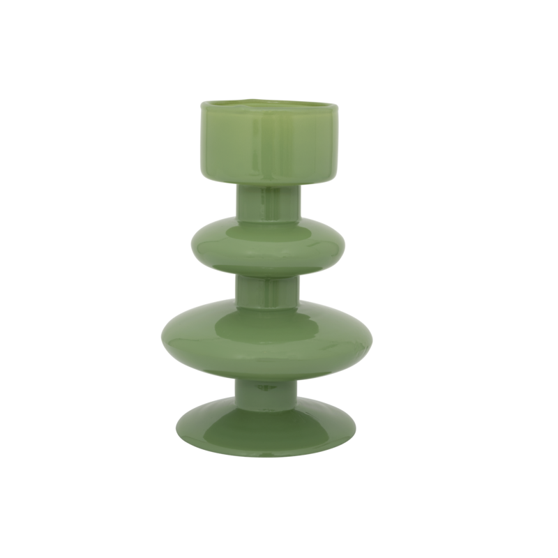 Urban Nature Culture-collectie Waxinehouder recycled glas Intuitive water cress