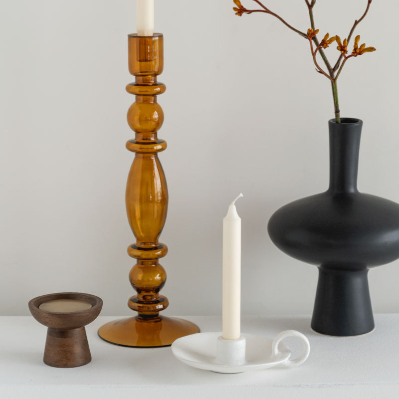 Urban Nature Culture-collectie candle holder recycled glass Aesthetic, wood rush