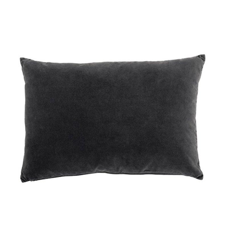 Urban Nature Culture-collectie cushion vintage velvet, ebony