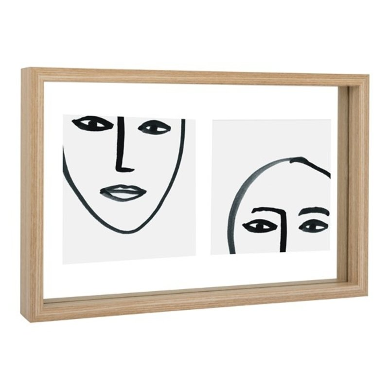 Urban Nature Culture-collectie photo frame Floating Aesthetic Double, natural