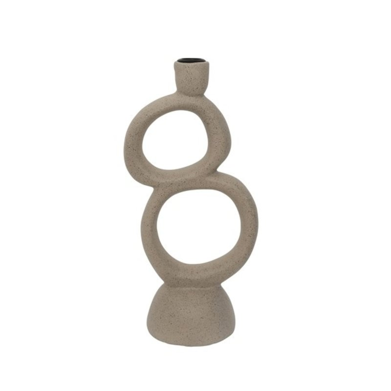 Urban Nature Culture-collectie candle holder ecomix Rough Sophistication Double, grey speckle