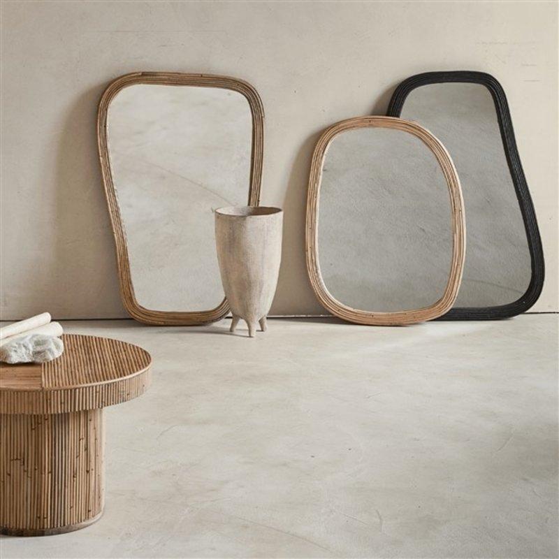 Urban Nature Culture-collectie mirror rattan L, black