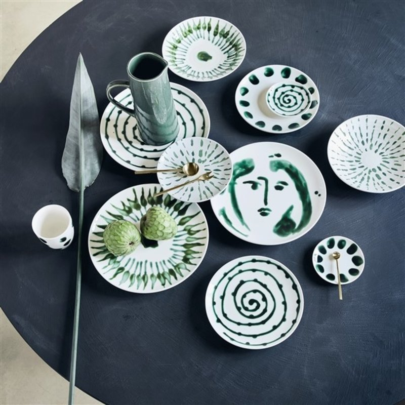 Urban Nature Culture-collectie breakfast plate Arts & Craft Dots, 22 cm