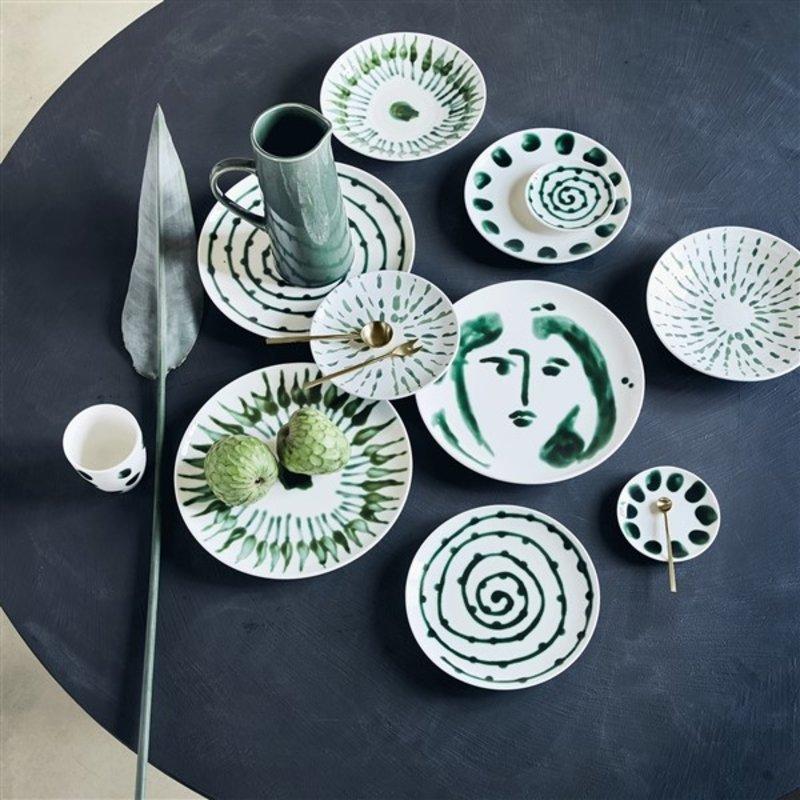 Urban Nature Culture-collectie dinner plate Arts & Craft Swirl, 28 cm