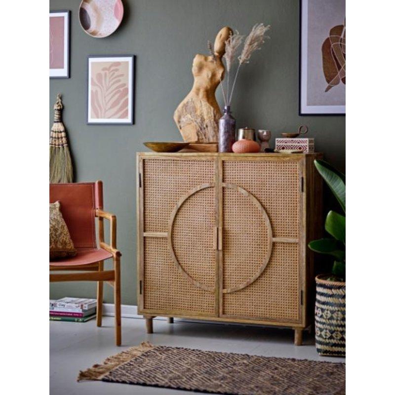 Bloomingville-collectie Leren lounge stoel Ollie bruin