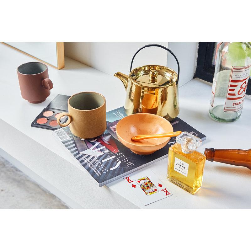 HKliving-collectie bold & basic ceramics: large bowl orange (set of 2)