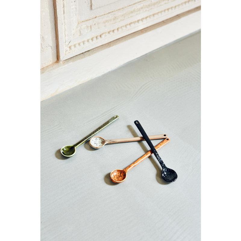 HKliving-collectie 70s ceramics: spoons L (set of 4)