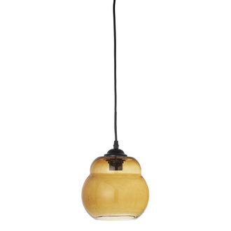 Bloomingville Glazen hanglamp Baha bruin