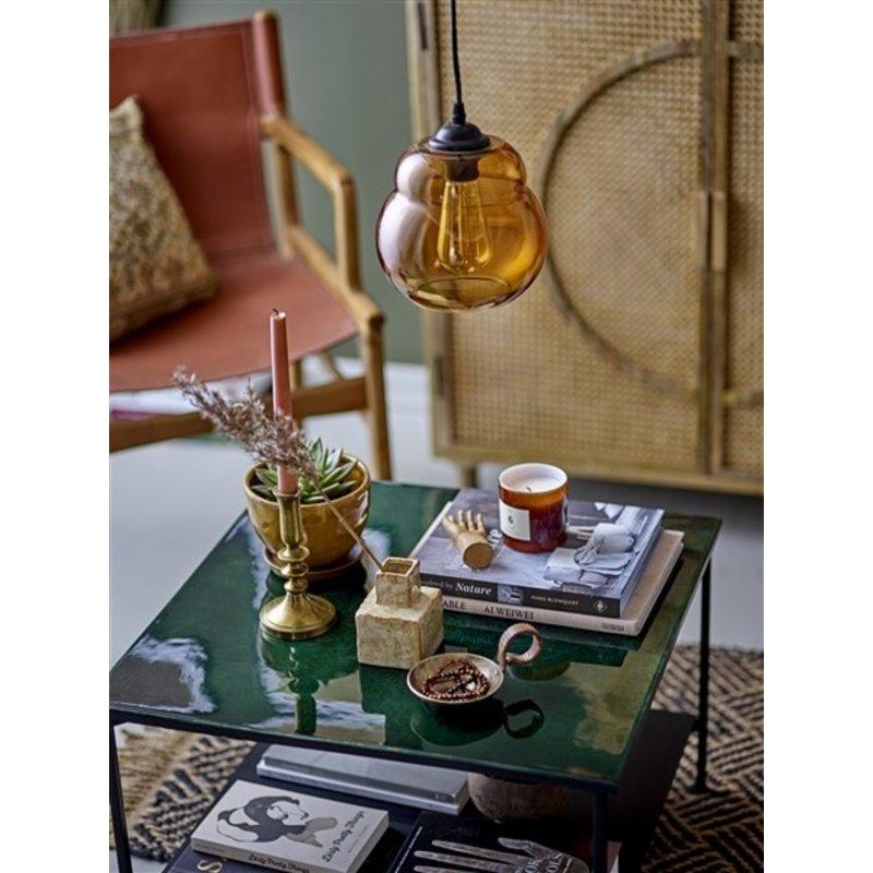 Bloomingville-collectie Glazen hanglamp Baha bruin