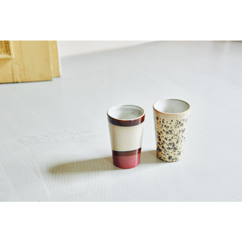 HKliving-collectie 70s ceramics: tea mugs (set of 2)