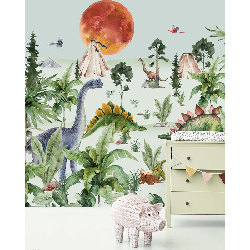 Creative Lab Amsterdam-collectie Dino by Moonlight Wallpaper Mural