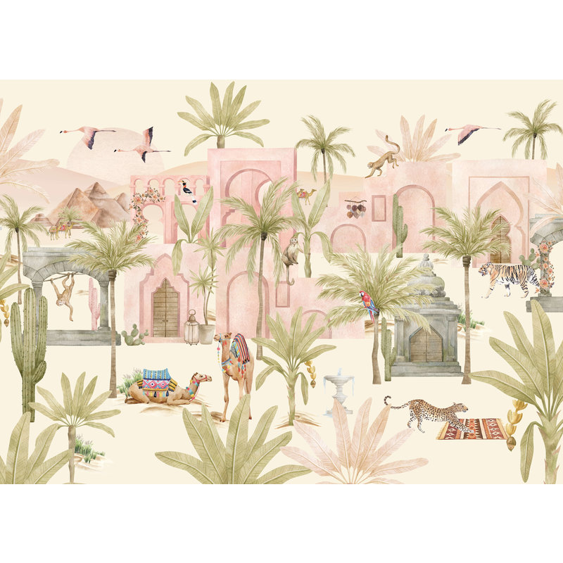 Creative Lab Amsterdam-collectie Pink Oasis Behang Mural