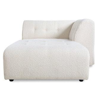 HKliving vint couch: element right divan, boucle, cream