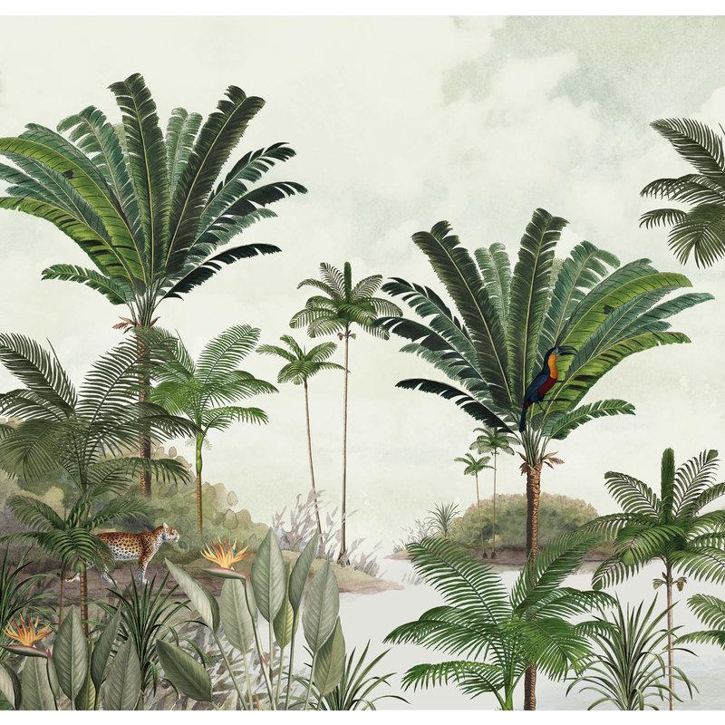 Creative Lab Amsterdam-collectie Rainforest Behang Mural