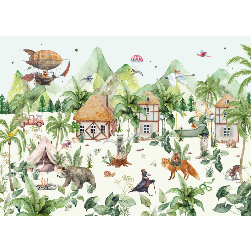 Creative Lab Amsterdam-collectie The Magical Village Behang Mural