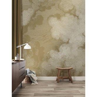 KEK Amsterdam Gold Wallpaper Engraved Clouds
