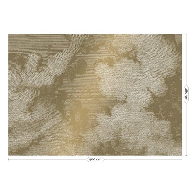 KEK Amsterdam-collectie Goud behang Engraved Clouds