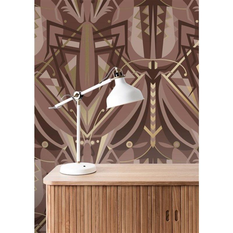 KEK Amsterdam-collectie Gold wallpaper Art Déco Animaux Grasshopper Taupe