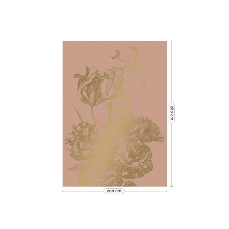 KEK Amsterdam-collectie Goud behang Engraved Flowers Nude