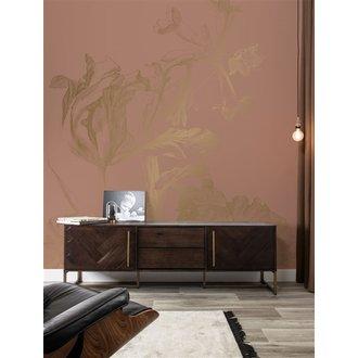KEK Amsterdam Gold Wallpaper Engraved Flowers Nude