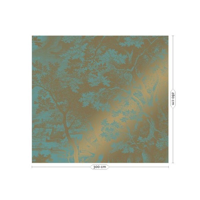 KEK Amsterdam-collectie Goud behang Engraved Landscapes Mint