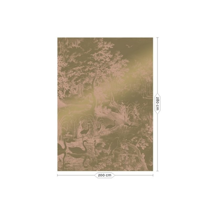 KEK Amsterdam-collectie Goud behang Engraved Landscapes Nude