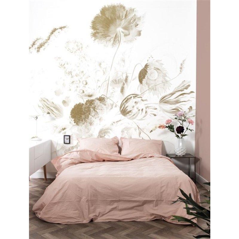 KEK Amsterdam-collectie  Gold Wallpaper Golden Age Flowers White