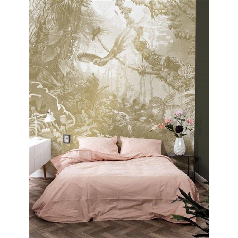 KEK Amsterdam-collectie KEK Amsterdam Goud behang Tropical Landscapes Wit