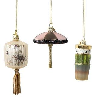 HKliving vondels for hkliving: christmas ornaments (set of 3)