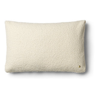 ferm LIVING Kussen Clean wol Boucle off white