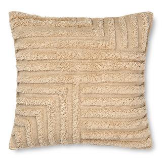 ferm LIVING Kussen Crease wol 50x50 cm licht zand