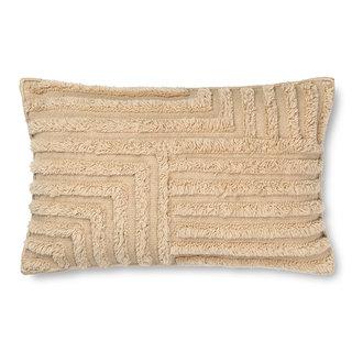 ferm LIVING Kussen Crease wol 60x40 cm licht zand