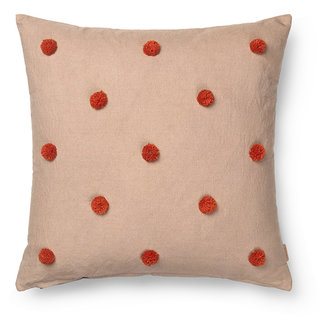 ferm LIVING Dot Tufted Cushion - Camel/Red