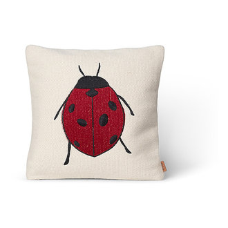 ferm LIVING Forest Embroidered Cushion - Ladybird