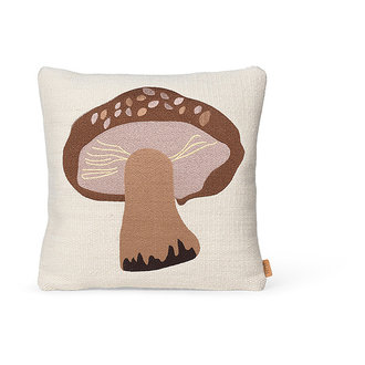 ferm LIVING Forest Embroidered Cushion - Porcini