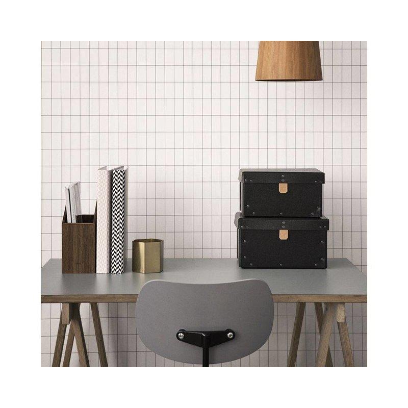 ferm LIVING-collectie Wallpaper Grid monochrome